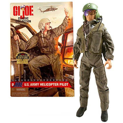 Hasbro Year 1997 GI JOE Classic Collection 12 Inch Tall Soldier Figure - G.I. JANE US ARMY FEMALE HELICOPTER PILOT with Radio, Vest, Pistol, Jump Suit, Flight Helmet and Dog Tags (Redhead Version)