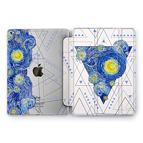 Wonder Wild Vincent Van Gogh Case for iPad 9.7 inch 6th 5th 4th Generation Smart Cover iPad Pro 9.7 Hard Print starry night 2018 2017 | A1822 A1823 A1893 A1954 A1673 A1674 A1675 | Painting Geometric ()