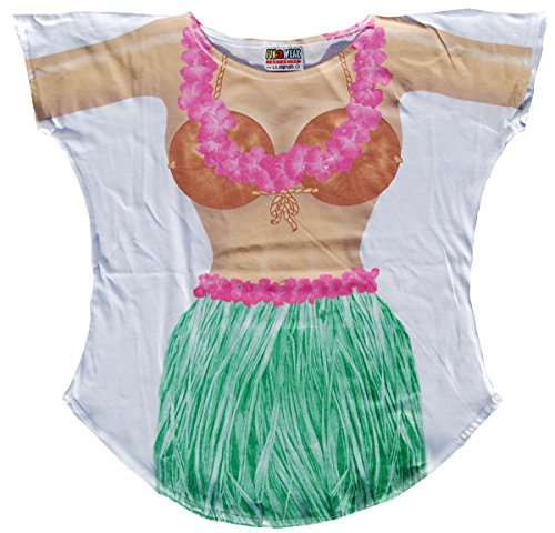 Hula Girl Cover-Up T-Shirt Size M/L (T Shirt Ideas For Breast Cancer Walk)