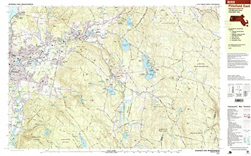 (YellowMaps Pittsfield East MA topo map, 1:25000 scale, 7.5 X 15 Minute, Historical, 1997, updated 1999, 24 x 38.6 IN - Paper)
