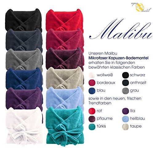 Bademantel-mit-Kapuze-fr-Damen-Herren-alle-Gren-viele-Farben-weiches-und-super-flauschiges-Coral-Fleece-aqua-textil-Serie-Malibu