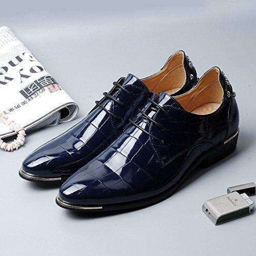 Pu Up Cuero Armada De Texture Business Classic La Formal For Oxfords Zx Forrado Men Zapatos Shoes Square Lace TE0qII