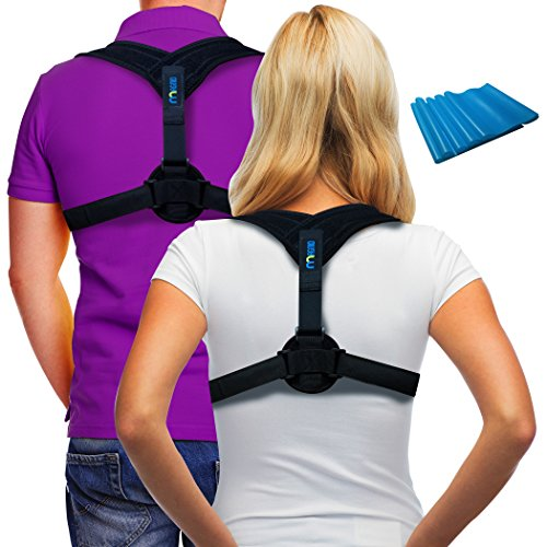 Posture Corrector Back Support Brace ~ Includes Exercise Band ~ Fix Posture ~ Ease Pain ~ Adjustable ~ for Men & Women ~ for Thoracic Kyphosis and Shoulder Support ~ Neck Pain Relief ~ by Magnio by Magnio