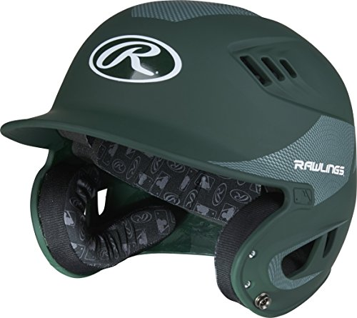 Rawlings Velo Carbon Matte/Carbon Fiber Helmet, Matte Dark Green by Rawlings