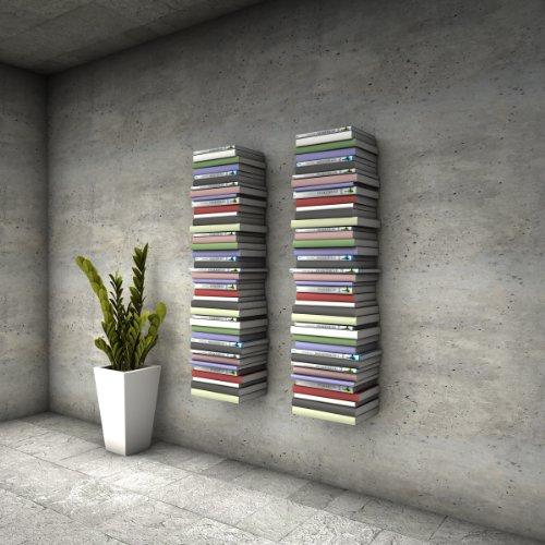 Mensole Per Libri.Home3000 6 Mensole Libreria Invisibili Colore Bianco Con 12 Scomparti Altezza Fino A 300 Cm Per Mettere I Libri In Pila Per Libri Con