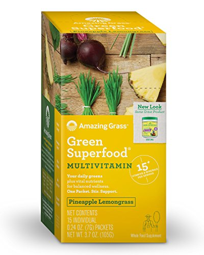 Amazing Grass Multivitamin Lemongrass Individual