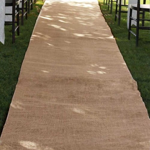 Burlap Wedding Aisle Runner, 36 inch x 100 ft, Rustic, Natural