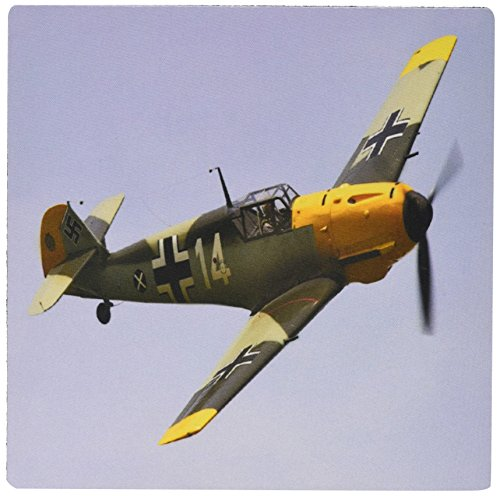 - 3dRose LLC 8 x 8 x 0.25 Inches Mouse Pad, German Ww Ii Messerschmitt Airplane (mp_100333_1)