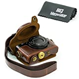 """MegaGear """"Ever Ready"""" Protective Dark Brown Leather Camera Case , Bag for Sony Cyber‑shot DSC‑RX100 V, DSC-RX100M II, DSC-RX100 III, DSC-RX100 IV Digital Camera"""