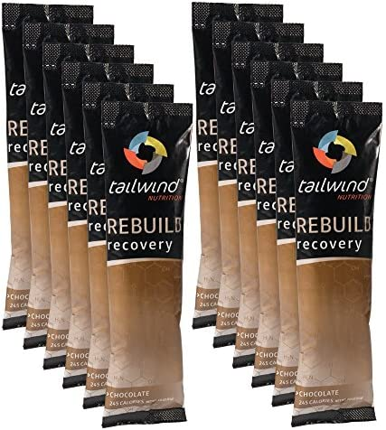 Tailwind Nutrition Chocolate Rebuild Recovery 12 Stick Pack Bag – Complete Protein, Electrolytes and Carbohydrates – Vegan, Gluten-Free, No Soy or Dairy