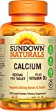 Sundown Naturals Calcium 600 mg Vitamin D3, 120 Tablets For Sale