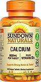 Sundown Naturals Calcium 600 mg Vitamin D3, 120 Tablets Review