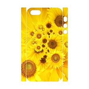 ALICASE Diy Customized Case Sunflower 3D Case for iPhone 5,5S [Pattern-1]