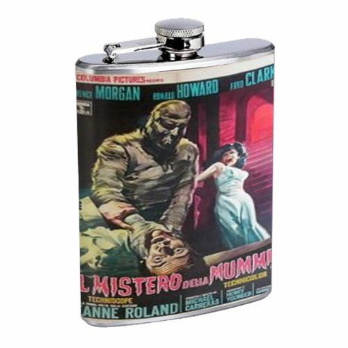 Curse of the Mummy's Tomb 1964 8OZ Stainless Steel Flask D-391 (The Curse Of The Mummys Tomb 1964)