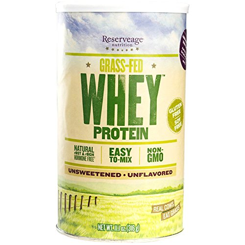 Reserveage - Grass Fed Whey Protein, Minimally Processed with High Biological Value, Unflavored, 12 Servings (11.1 oz)