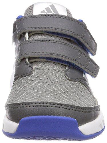 adidas Unisex-Kinder FortaGym Gymnastikschuhe Mehrfarbig (Grey Five F17/ftwr White/grey Three F17)