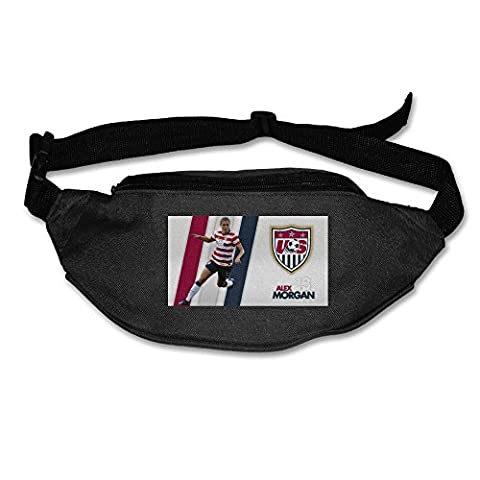 2015 World Cup Alex Morgan Fanny Pack Waist Bag Waist Pack Black (Black Thorn Usa Water Bottle)