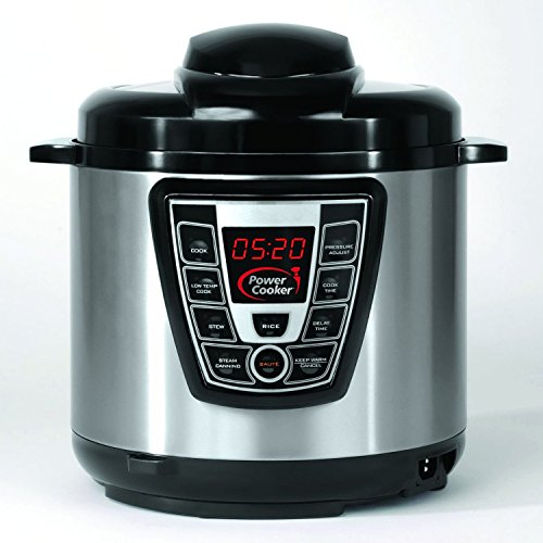 Power Cooker PC-WAL1 – Pro – Digital Electric Pressure Cooker & Canner (6 Quart) (Black & Stainless Steel) (Certified Refurbished)