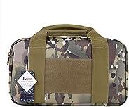 Huijukon Tactical Single Pistol Case Range Bag Handgun Bag 1000D Nylon