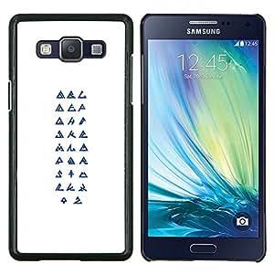 LECELL--Funda protectora / Cubierta / Piel For Samsung Galaxy A5 A5000 -- Símbolos Religión Arte Secreto --