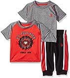 U.S. Polo Assn. Baby Boy's T-Shirt and Pant 3 Piece
