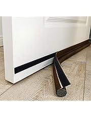 """MAXTID Bottom Door Draft Blocker Door Soundproofing Fits for for Exterior and Interior Doors Dustproof 32"""" Width (Brown)"""