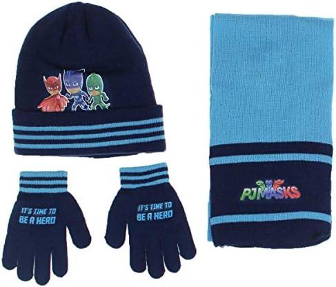PJ Masks Kinderset mit Mütze, Schal & Handschuhe