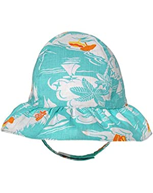 Baby Girl 's Seashore Sun Hat -6-12 Months