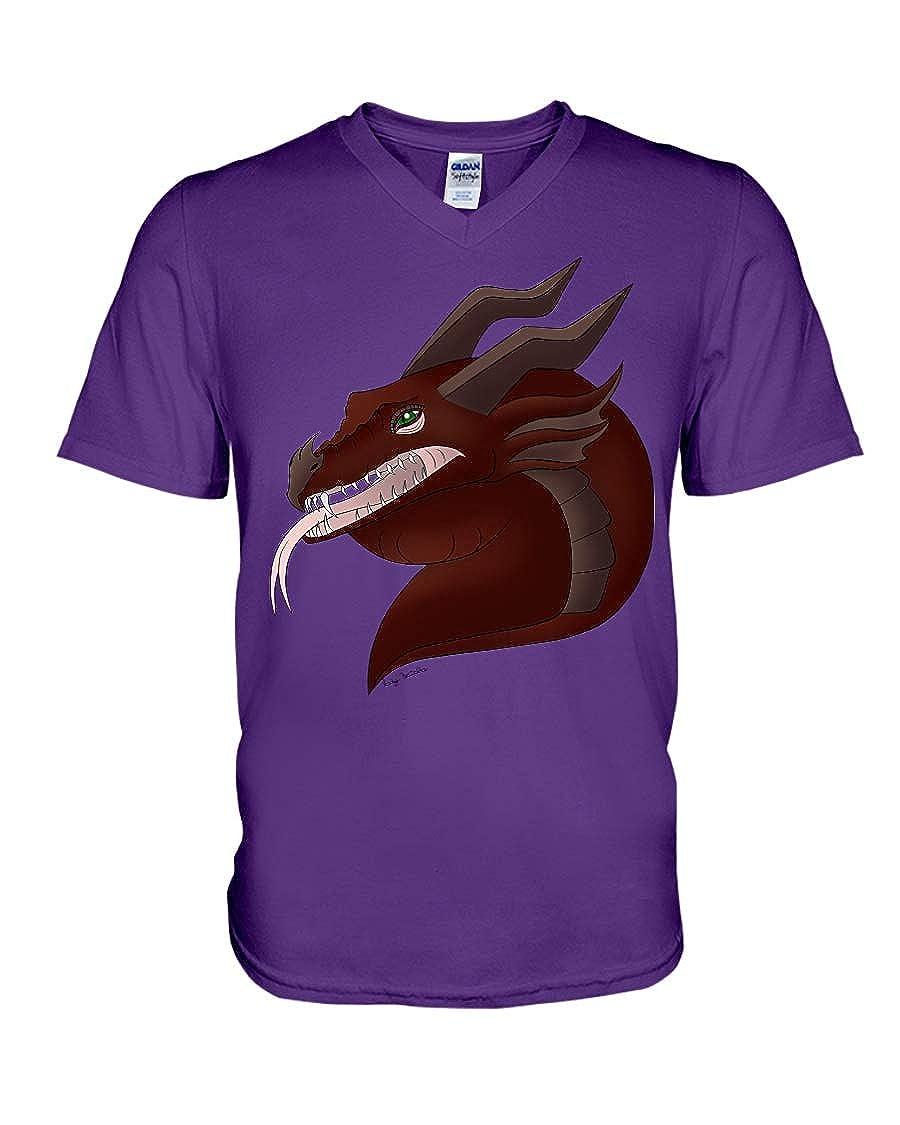 Nancy Findlayss Medieval Dragon V-Neck T-Shirt Team Purple 2XL