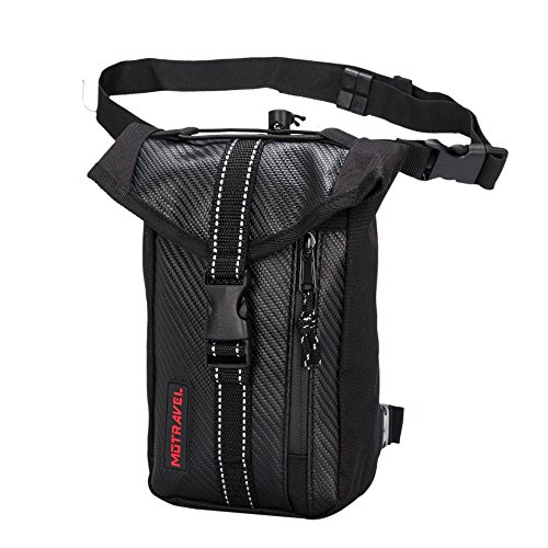 Ohmotor Motorcycle Riding Tactical Waterproof Drop Leg Bag Multi-purpose Sports Racing Hiking Waist Bag Fanny Pack Cross Over Bag for Cycling Climbing Outdoor (Pack Sportbike Saddlebags)