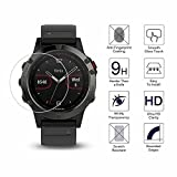 YANSHG For Garmin Fenix 5 Watch Tempered Glass Screen Protector, Anti-scratch Ultra Clear 9H Tempered Glass Protector