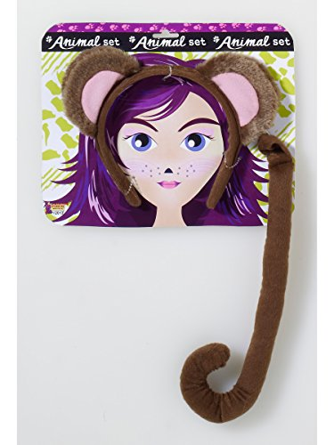 Forum Novelties Women's Playful Animals Monkey Costume Accessory Set, Multi, One size -