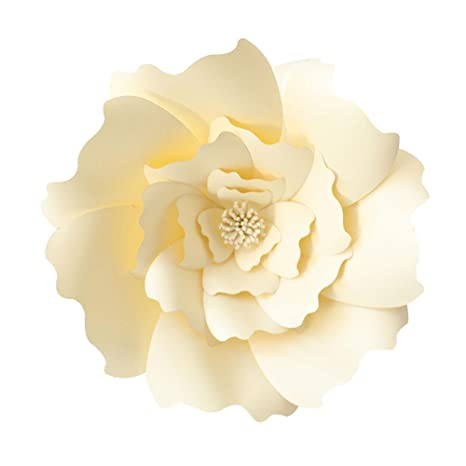 KOBWA Flores de Papel Grandes, DIY artesanías Papel Flores Decoraciones para Pared, Boda/guardería fotografía Flores Fondo de la Flor, cumpleaños, ...