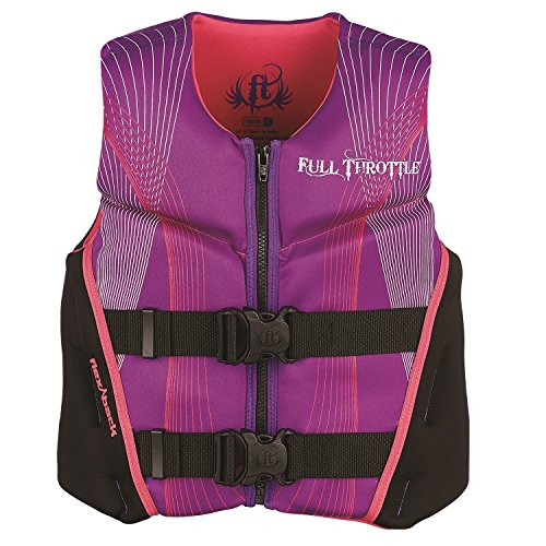 Full Throttle Youth Hinged Rapid-Dry Flex-Back Vest, Purple