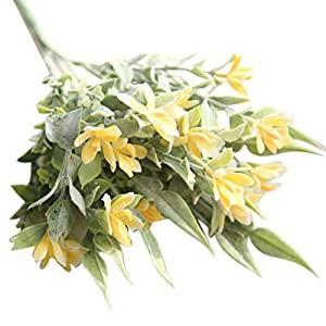 YJYdada Artificial Fake Flowers Snake Orchid Floral Wedding Bouquet Home Decor (Yellow) 54