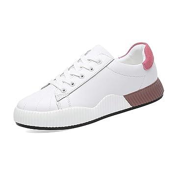 e1fe4d784abb GTVERNH Women's shoes/Leather Shoes Thick Sole Sports Shoes Korean ...