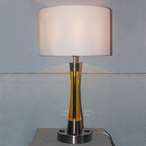 BBSLT Resina moderna mesa lámpara casera c enchufe en la ...