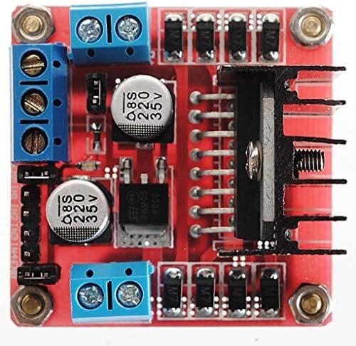 Yongse Carte de contr/ôleur de Moteur Pas /à Pas Double Pont H Geekcreit L298N pour Arduino