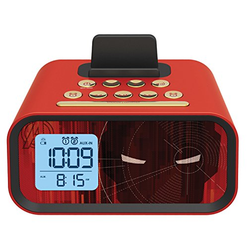 Iron Man Dual Alarm Clock Speaker System (MR-M23)