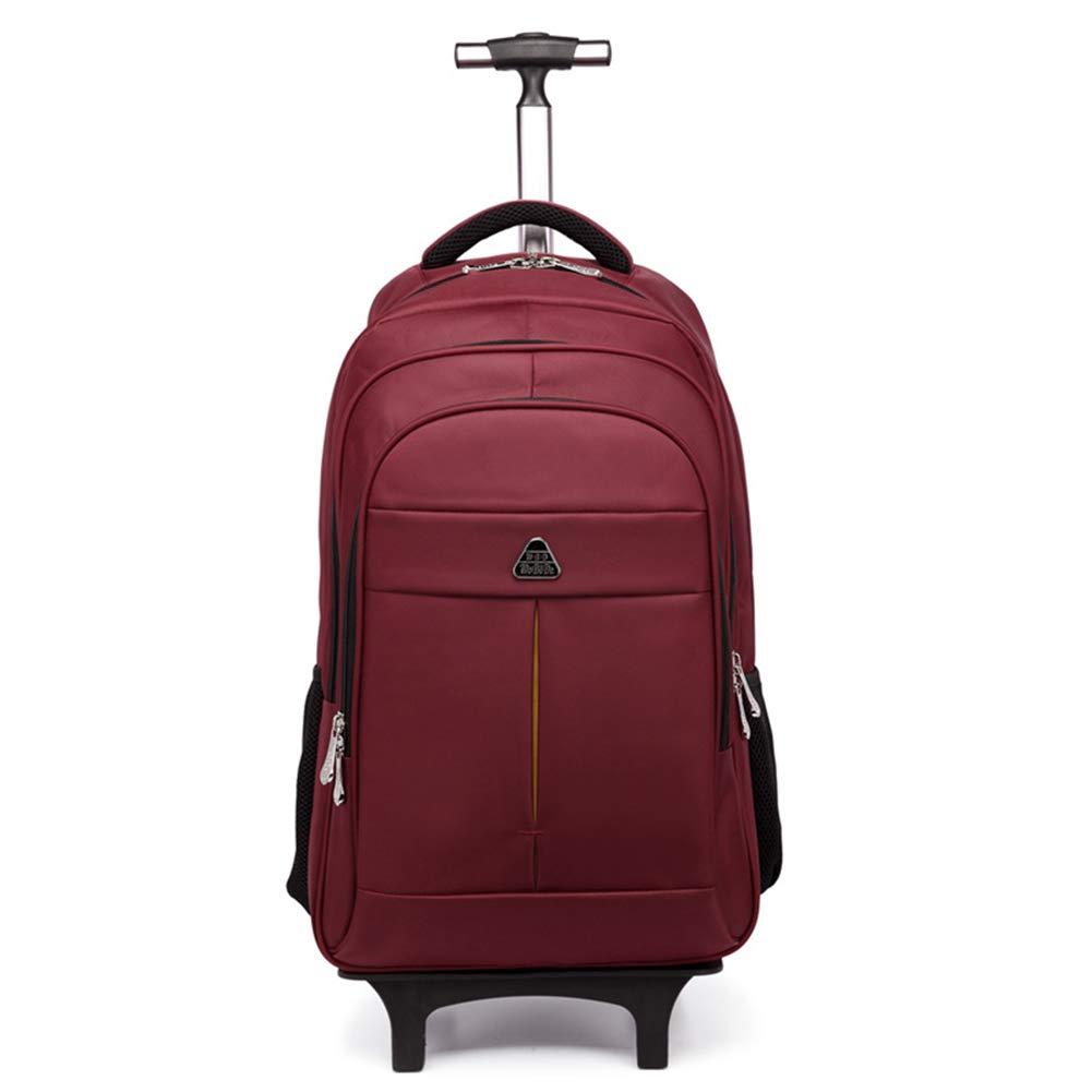 ファッションビジネス旅行車輪付きバックパックローリングキャリーオン荷物トラベルダッフルバッグ、機能付きラップトップリュックサックとホイール超軽量防水バッグケース 20in Red B07LG26PB2