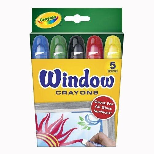 Crayola Washable Window Crayons, Assorted 5 ea (Pack
