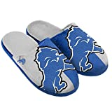 NFL Detroit Lions Split Color Slide Slipper, Large, Blue
