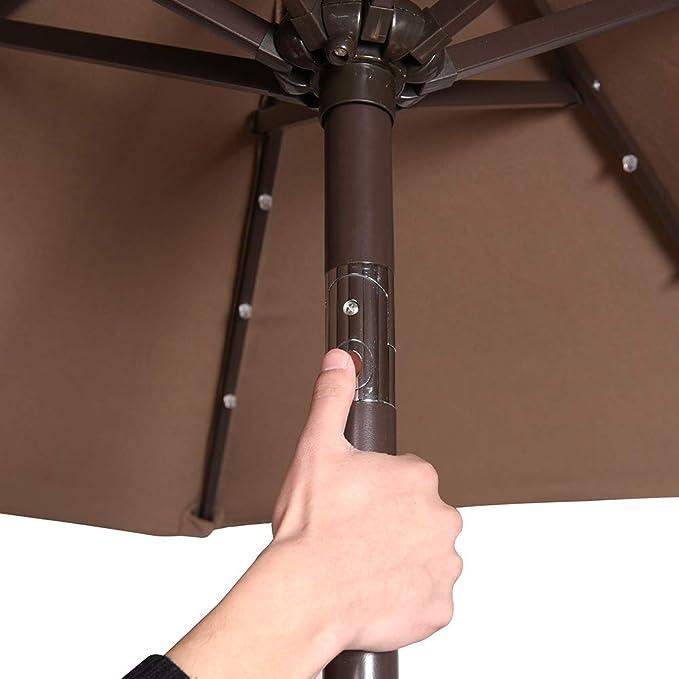 Amazon.com: Sundale - Paraguas solar para exteriores con 24 ...