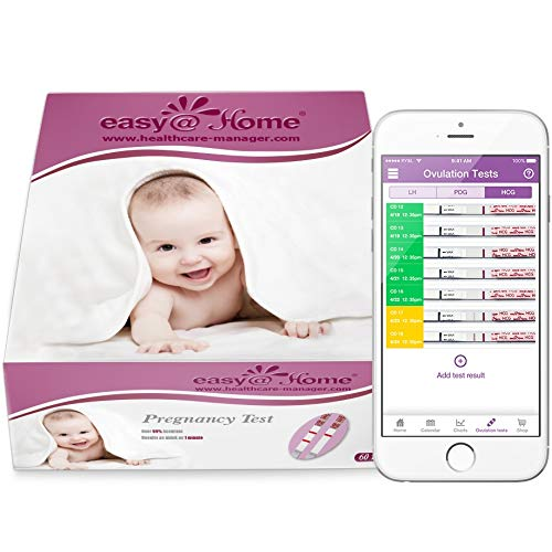 EasyHome Branded 60 Pregnancy Tests, 60-Count