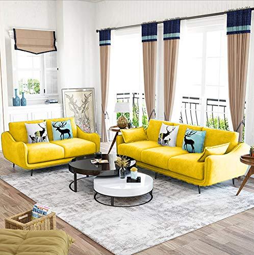 Modern Sofa Set  3+2   X Large, Yellow  Sofa Sets