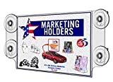Marketing Holders Clear Acrylic 11''w x 8.5''h Ad Frame with Four Suction Cups