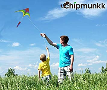 Easy to Fly Large Nylon Bird Kite for Kids and Adults for Beach Trip /& Outdoor Activities Perfect for Beginners Flies in Light Breeze Flying String Line Included Big Flyer Childrens Toys