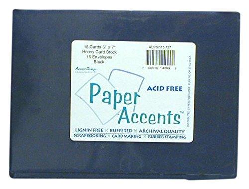 Accent Design ペーパーアクセント ADPaperCard&Env5x725pcブラックペーパー B0018N5SMS