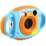 キッズカメラ VBESTLIFE 500万解像度 1080ビデオ解像度 トイカメラ 子供用 かわいい クリスマスプレゼント デジタルカメラ Windows XP/Vista / 7/8、Mac10.8対応 日本語サポート(ブルー)