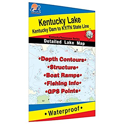 Kentucky Lake-North (Kentucky Dam to KY/TN Line) Fishing Map